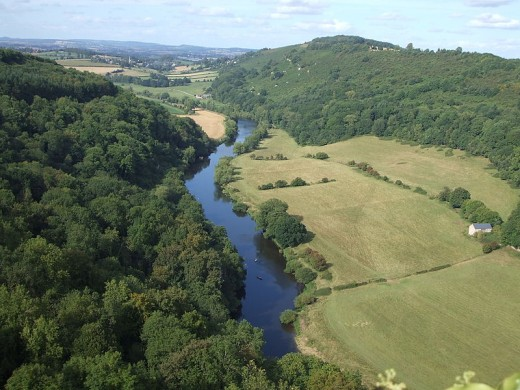 A view of the Dean looking north towards Ross on Wye.