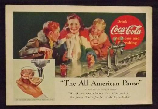 1937 Coca-Cola Vintage Print Ad