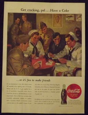 1945 Coca-Cola Vintage Print Ad
