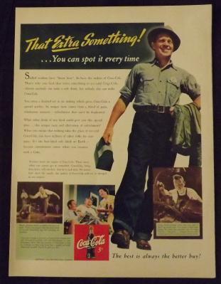 1942 Coca-Cola Vintage Print Ad