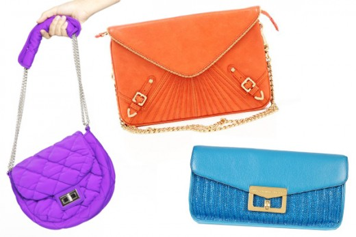 Colorful handbags with detailing can be used to help give your look a little more pop!
