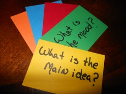Flash cards made with colored card-stock work great with the colored spinners above.