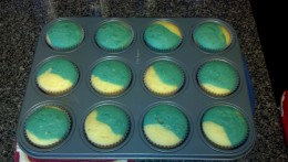 Our cupcakes straight out of the oven.