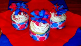 Wrap around cupcake and secure with tape or glue.