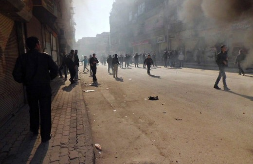One of Syria's Many Smoke Filled Streets
