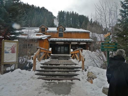 Entrance to Sundance Resort