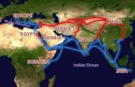 The Map of Silk Route