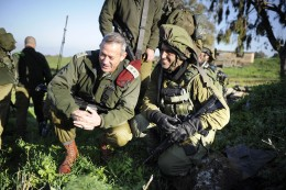 """March 2, 2011. The Chief of the General Staff, Lt. Gen. Benny Gantz, at a military drill conducted by the """"Barak"""" Battalion of the Golani Brigade in northern Israel."""