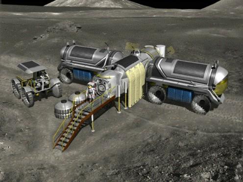 NASA concept drawing of a Lunar Habitat called LUNOX