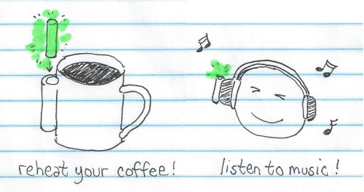 reheat coffee listen to music with glowing nuclear rod