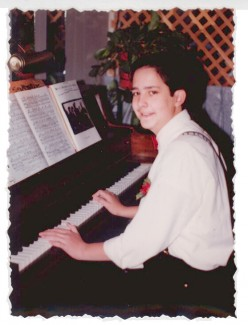 Me playing piano late in high school.