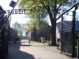 Entrance to the concentration camp Auschwitz I