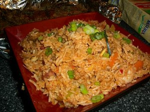 Typical fried rice found in Singapore.