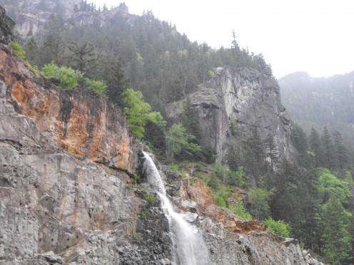Waterfall along Hwy. 20 near Gorge Creek, below Diablo, Wa.