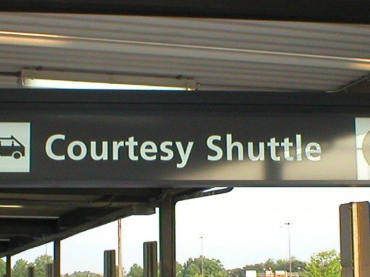 Airport Shuttle Sign