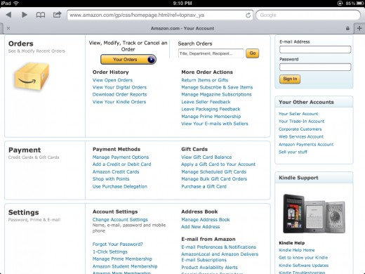 how to create a free amazon account