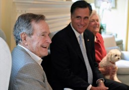 President Bush is probably telling Mr. Romney that he should support Cap & Trade.