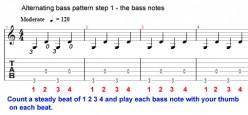 Fingerstyle Guitar - Alternating bass technique - Travis picking