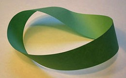 Mobius strip made from paper.