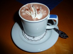 Float Marshmallow in Hot Chocolate