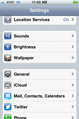 """Tap """"Mail, Contacts, Calendars."""""""