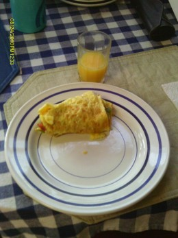 The California omelet is a great way to start the day!