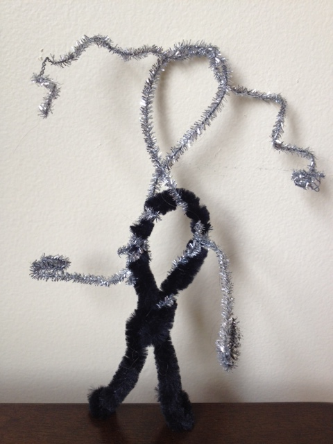 Pipe cleaner sculpture.