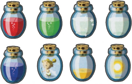 Bottles from The Wind Waker