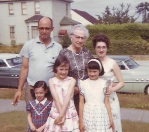 "My family. You can tell what a smart ""A"" my Dad was by the smirk on his face. I'm the adorable one in the middle."
