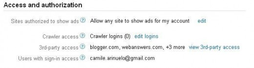 Adsense Account Setting