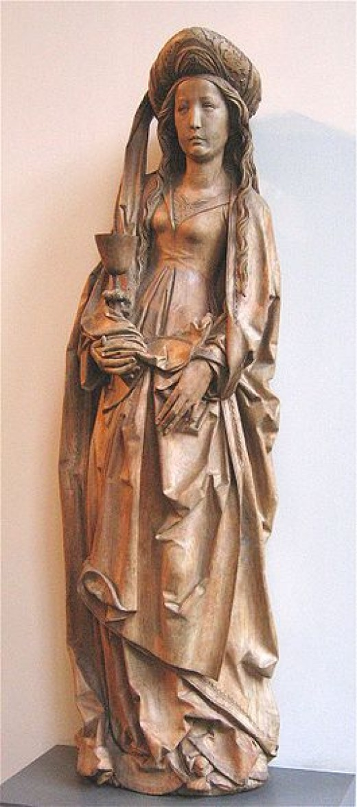 Carving of St. Barbara by Tilman Riemenschneider