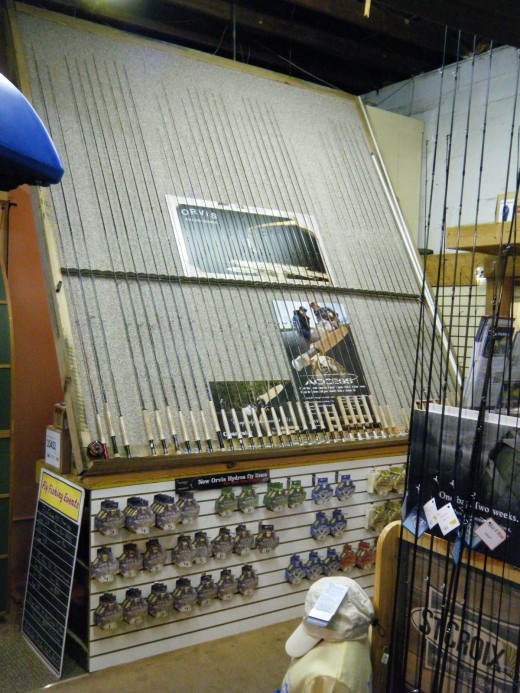 Fly rods available from a local fly fishing/outfitting shop.  This outfitter is Andy Thornal located in Winter Haven, Florida.