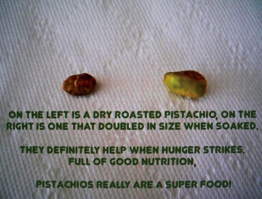 Pistachio nuts are full of fiber and nourishment for our bodies--they really are a super food!