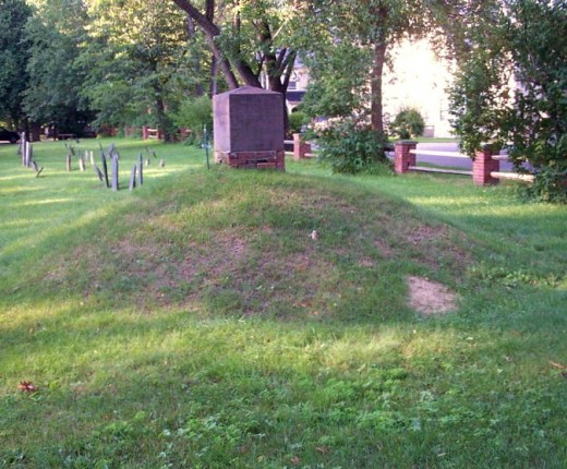 Mass grave for victims of 1704 massacre