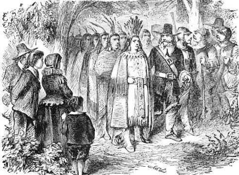 Massasoit and his warriors