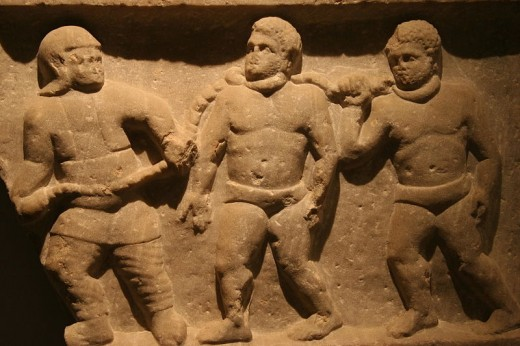 Collared Roman slaves