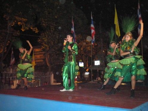 Music and Dance Talent Show, Chang Mai Night Bazaar, Thailand.