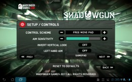 Change the touchscreen settings or set up a controller in the settings.
