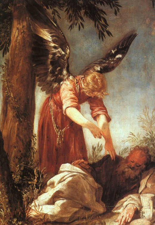 Angel awakens the prophet Elijah