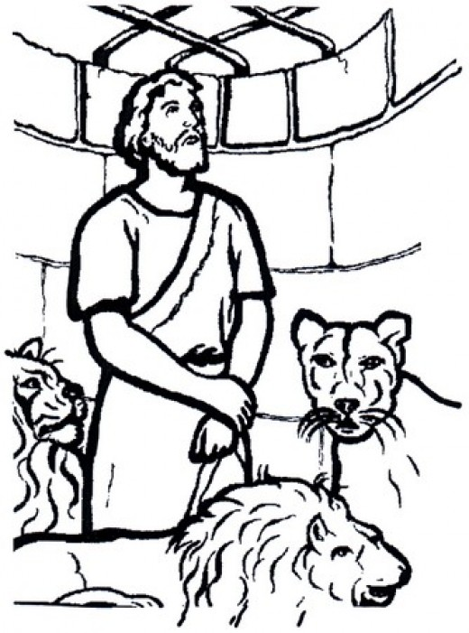 bible coloring pages lions - photo#25