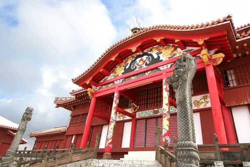 Shuri Castle or Shurijo of Okinawa, Japan
