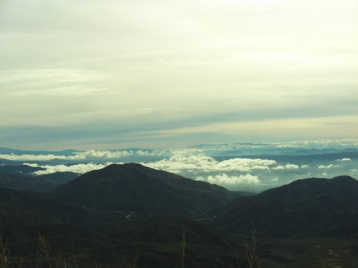 Another photograph of the view of the clouds from the Rim of the World Highway.
