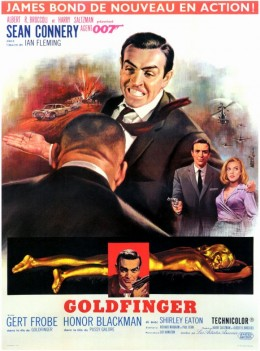 Goldfinger (1964) French poster art by Jean Mascii