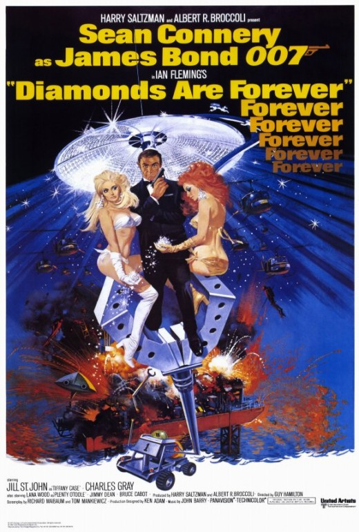 Diamonds Are Forever (1971) art by Robert McGinnis