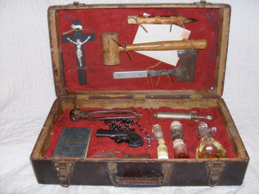 Vampire Hunting Kit From The 1870's