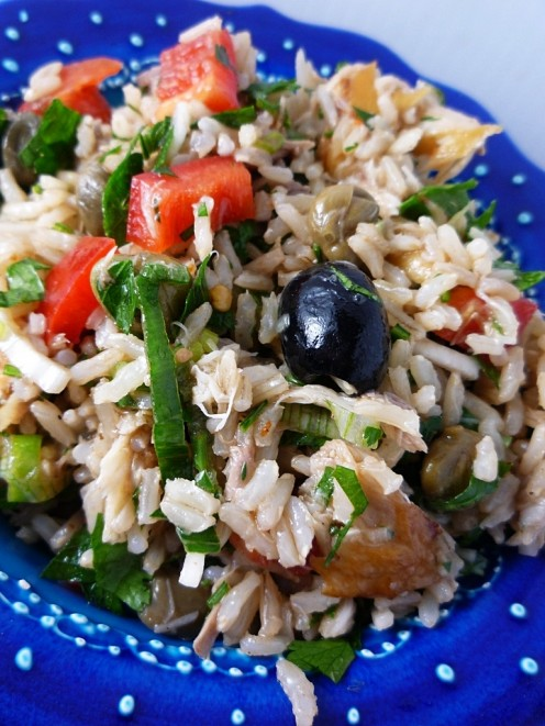 Brown Rice with Mackerel