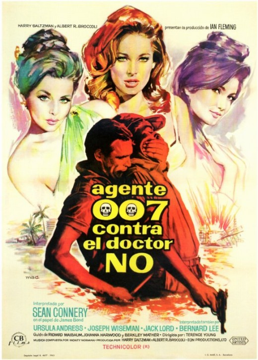 Dr. No (1962) Spanish poster art by Macario Gomez