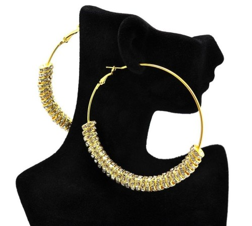 These earrings would be a more subtle way to add bling to your outfit, but still make a statement.