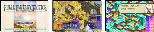 Final Fantasy Tactics advance Title screen, gameplay, dialogue