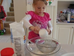 Sift the flour in a separate bowl before measuring.
